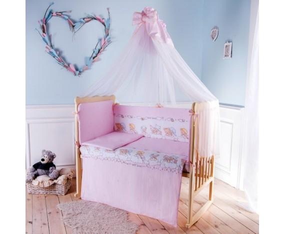 Постелька для новорождённых Баю-Бай Мечта розовый 7-ми предметный